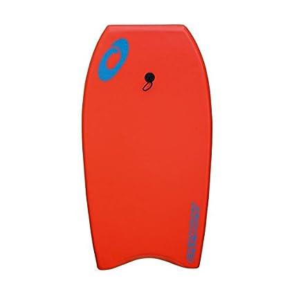 Osprey Stripe Bodyboard con guinzaglio, XPE Board con Mezzaluna Tail–94cm, Bambino, XPE Stripe, Green XPE Board con Mezzaluna Tail-94cm Osprey Action Sports SU2005