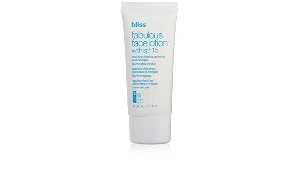Amazon.com : Bliss SPF 15 Fabulous Face Lotion for Unisex, 1.7 Ounce : Facial Contour Creams : Beauty