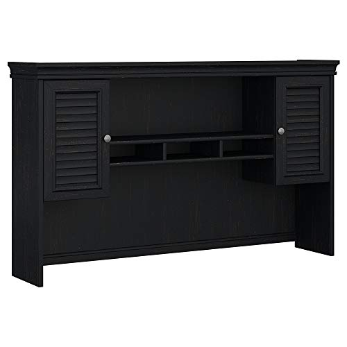 Bush Furniture Fairview Hutch for L Shaped Desk in Antique Black