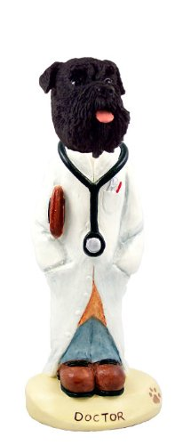 - Schnauzer Black w/Uncropped Ears Doctor Doogie Collectable Figurine