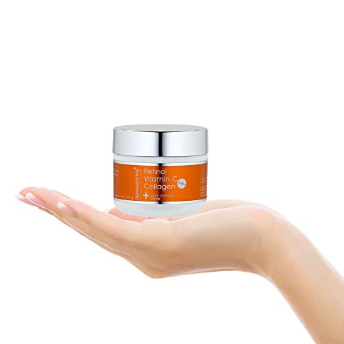31sCjCNC53L - Vitamin C + Retinol + Collagen | Super Charged Anti-Aging Cream for Face | Pharmaceutical Grade Quality | Helps Smooth & Plump Fine Lines & Wrinkles & Brightens for Younger Skin | 2 oz / 60 g