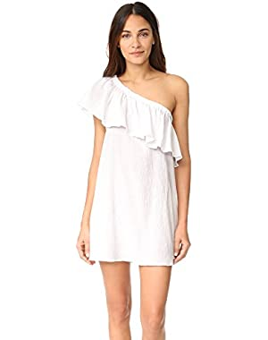 Women's One Shoulder Ruffle Cover Up