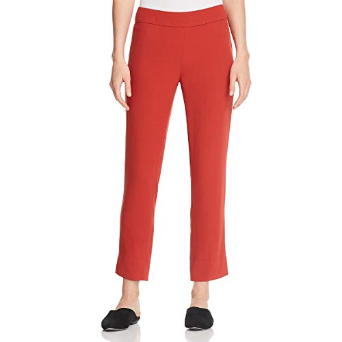 Eileen Fisher Womens Petites Silk Slim Ankle Pants Orange PL ()