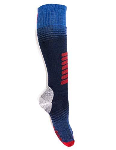 Eurosocks Ski Zone OTC Socks, Padded Protection, Absorbs Shock, Ventilation Channels, MicroSupreme Warmth-1112 (Large, ()
