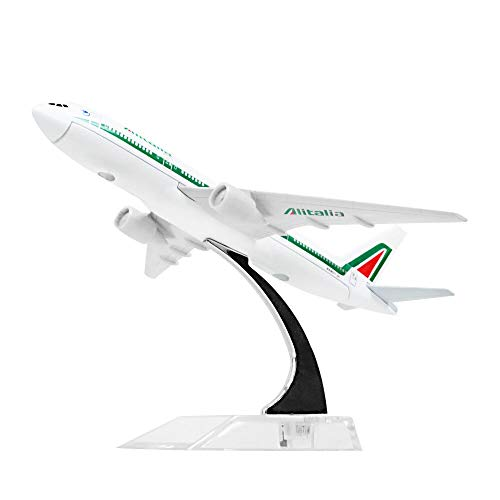 Greensun Alitalia Airlines Boeing 777 16cm Airplane Models Child Birthday Gift Plane Models Toys