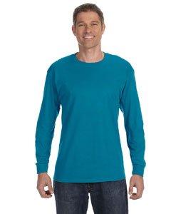 T-shirts Sleeve Blank Long (Jerzees Men's Heavyweight Blend 50/50 Long Sleeve T-Shirt (California Blue, Large))