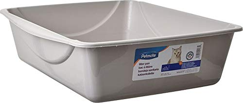 Doskocil Petmate Open Cat Litter Box, Blue Mesa/Mouse Grey, 4 Sizes