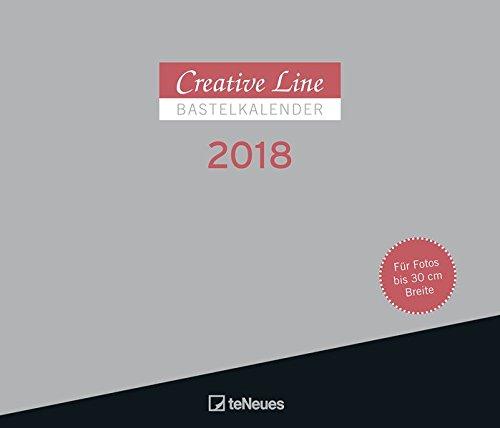 Bastelkalender 2018 Querformat - Creative Line quer, Kreativkalender, Mal & Bastelkalender, Kalender zum Selbstgestalten  -  30 x 35 cm