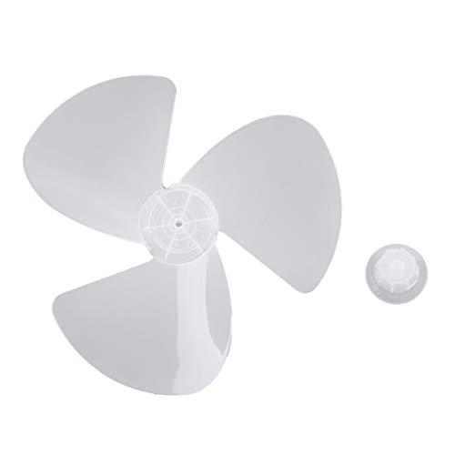 IEFIEL Plastic Fan Blade 3 Leaves for Standing Pedestal Fan Table Fanner General Accessories 16 Inch with - Pedestal Leaf