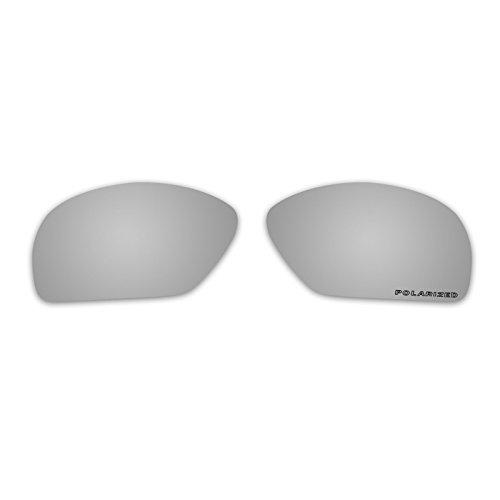 Polarized Replacement Sunglasses Lenses for Oakley Plaintiff Squared with UV Protection(Titanium - Sunglasses Plaintiff