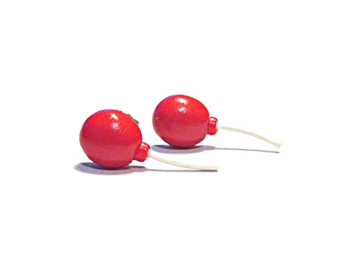 We All Float - Red Balloon Stud Earrings - Spooky Jewelry - Tiny Food -
