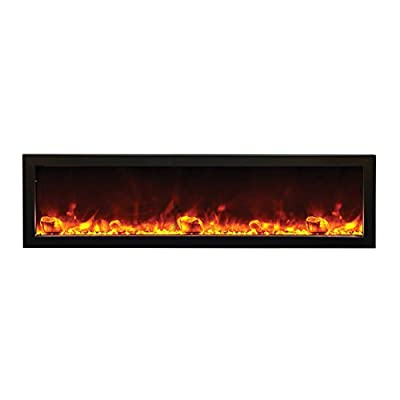 Amantii Outdoor Panorama Series Slim Electric Fireplace, 60 Inch