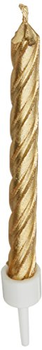 Wilton 2811-9122 Gold Candles, Metallic]()
