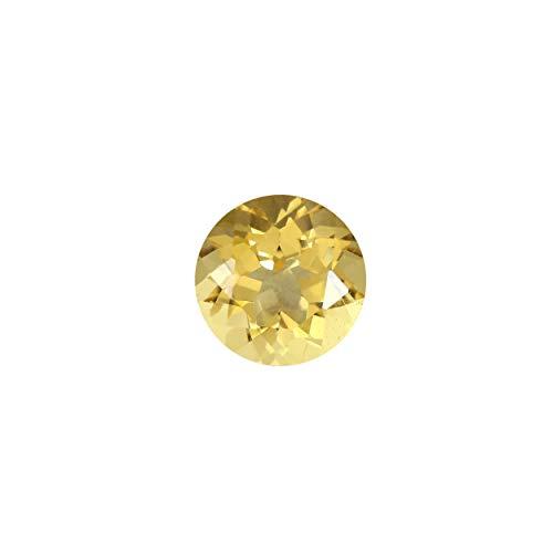 MINI GEMS 1.2244Cts of 7.00mm x 7.00mm Golden Beryl Loose Gemstone (Yellow)
