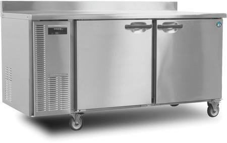 Hoshizaki HWF68A 68'' Professional Series Worktop Freezers with 18.8 cu. ft. Capacity EverCheck System Stainless Steel Interior and Exterior Removable Refrigeration System and Energy by Tempguard