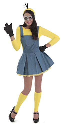 Princess Paradise Women's Minions Deluxe Costume Jumper, As As Shown, Medium]()
