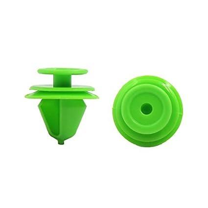 eDealMax 100 piezas Green Car plástico remache Sujetador Mud Flaps Fender empuje Clip 12mm Agujero