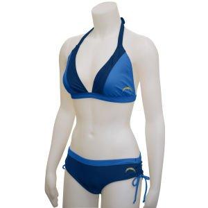 Diego Womens Chargers San (NFL G-III San Diego Chargers Women's Halter Bikini (Medium))