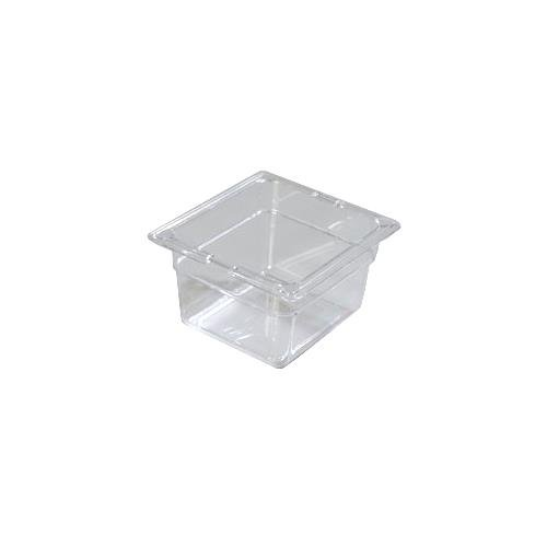 Carlisle (3068407) StorPlus Food Pans, Set of 6 (1/6 Size, 1.7-Quart, 4-Inch Deep, Polycarbonate, Clear, NSF)