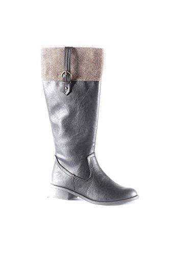 Hadari Dames Visueel Kunstleer Knie Hoge Laarzen