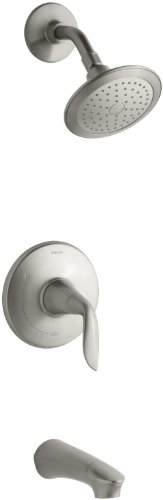 KOHLER K-T5318-4-BN Refinia Bath and Shower Trim, Valve Not Included, Vibrant Brushed Nickel