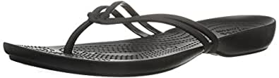 Crocs Women's Isabella Flip Sandal,Black/Black,US 4 M