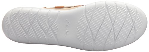 CLARKS Womens Jocolin Vista Boat Shoe, Champagne Metallic Synthetic, 6 Medium US