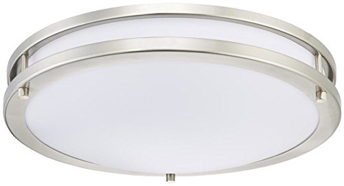 Flush Contemporary Semi - Westinghouse Lighting 6401200 Dimmable LED Flush Mount Ceiling, Brushed Nickel Finish Indoor Light Fixture, 15.75