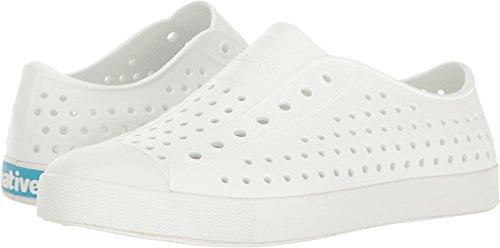 Native Kids Jefferson Junior Water Proof Shoes, Shell White/Shell White, 1 Medium US Little Kid
