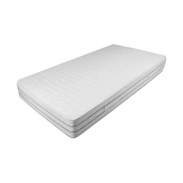 Baldiflex Easy 2.0 Memory Foam Materasso Memoria, Poliuretano, Bianco, 120 x 190 x 22 cm 1 spesavip