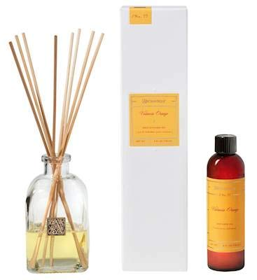 Aromatique Valencia Orange Reed Diffuser Gift Set Square Glass Bottle with Medallion by Aromatique