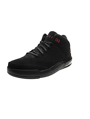 Nike - 921196 - Jordan Flight Origin 4 - Chaussures de Basketball - Homme - Noir (Black/gym Red 002) - Taille: 43 EU