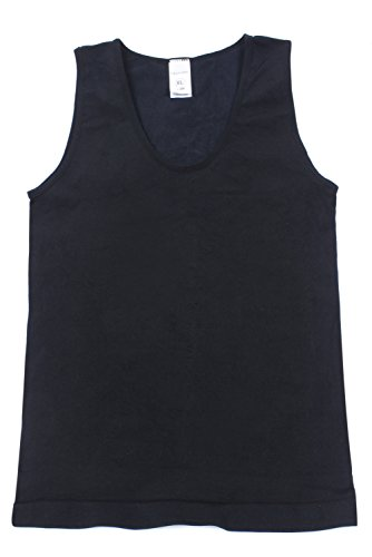 Franato Mens Slimming Trimmer Body Shaper Vest Shirt Tank Top Xx Large Black