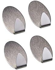 Kit 4 Gancho Adesivo Multiuso Cabide Para Parede Em Metal
