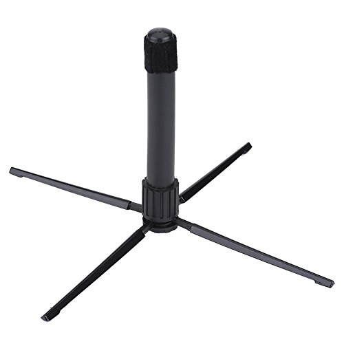 Flute Stand Compact Folding Clarinet Holder with 4 Feet for Oboe Clarinet Sax Wind Instrument Accessory by VGEBY