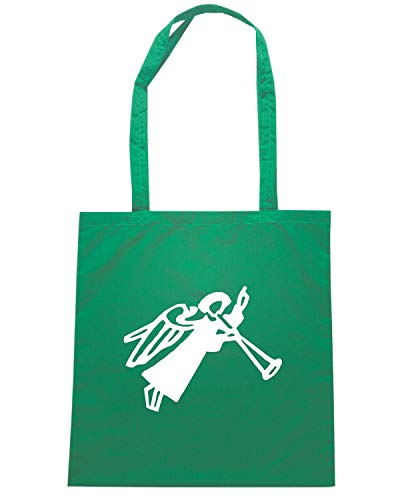FUN0480 Shirt spirtual Shopper Borsa religious Speed Verde wqvUHO