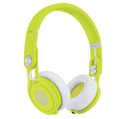 Beats by Dr. Dre Mixr High Volume Noise Isolating Lightweight DJ Headphones with Swiveling Ear Cups (Yellow)