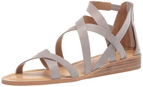 Lucky Brand Women's Helenka HIGH Heel Wedge Sandal, Chinchilla, 6.5 M US ()