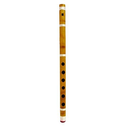 Traditionelle indische Handmade Brown Bambusflöte Bansuri Holz Musikinstrument