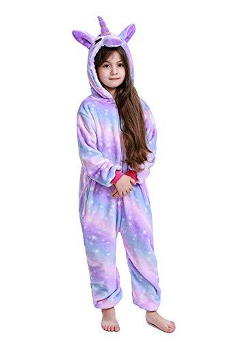 Kids Soft Unicorn Onesie Animal Pajamas Halloween Cosplay Costume Sleepwear Gift 4-6T
