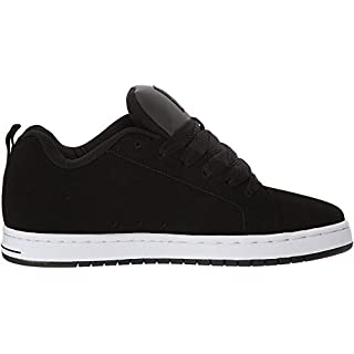 DC Men's Court Graffik SE Skate Shoe, Black/Grey, 9.5 D M US