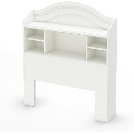 South Shore Savannah Twin Bookcase Headboard Pure White