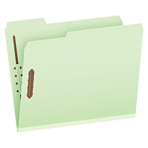 Pendaflex Pressboard Fastener Folders, 2 Fasteners, Letter Size, Light Green, 1