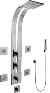 Graff Full Thermostatic Ski Shower System-Trim Only GE1.120A-LM31S-SN-T Satin Nickel