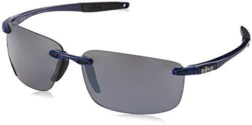 Sunglasses Revo Affordable (Revo Unisex RE 4059 Descend N Rectangular Polarized UV Protection Sunglasses, Electric Blue Frame, Graphite Lens)