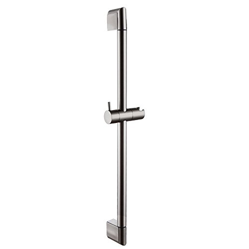 KES 25-Inch Bathroom Hand Shower Slide Bar Stainless Steel Bar Adjustable Sliding Showerhead Bracket Holder Contemporary Style Wall Mount Brushed Nickel, F200-BN