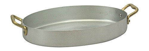 Ottinetti Le Piccole Brushed Aluminum Oval Frying Pan With