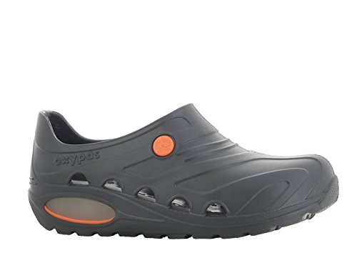 Oxypas Oxyva, Ultra Lightweight, Anit Slip Sole, Antistatic, Shock Absorption Sole. Suitable for Operating Room and Healthcare Professionals. Black