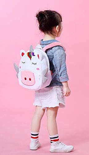 RUN childrens backpack childrens bag plush animal cute plush little girl boy animal backpack lunch box tote bag white