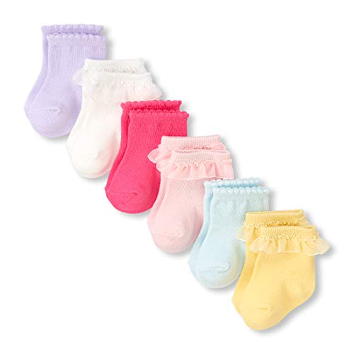 - The Children's Place Baby Girls 6 Pack Novelty Ruffle Socks, multi CLR 12-18MOS